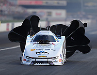 Sep 2, 2018; Clermont, IN, USA; NHRA funny car driver John Force during qualifying for the US Nationals at Lucas Oil Raceway. Mandatory Credit: Mark J. Rebilas-USA TODAY Sports