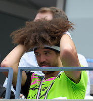 September 2, 2012: Stefan 'Redfoo' Gordy of LMFAO watches the action during Day 7 of the 2012 U.S. Open Tennis Championships at the USTA Billie Jean King National Tennis Center in Flushing, Queens, New York, USA. Credit: mpi105/MediaPunch Inc. /NortePhoto.com<br />