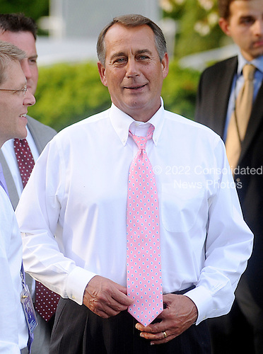 United States House Speaker John Boehner (Republican of Ohio) attends the Congressional Picnic on the South lawn of the White House, June 15, 2011, in Washington D.C..Credit: Olivier Douliery / Pool via CNP