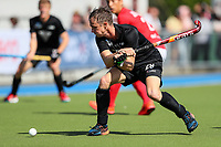 Hugo Inglis during the Olympic Qualifying Hockey match between the Blacksticks Men and Korea, TET Multisport Centre, Stratford, New Zealand. Sunday 3 November 2019. Photo: Simon Watts/www.bwmedia.co.nz/HockeyNZ