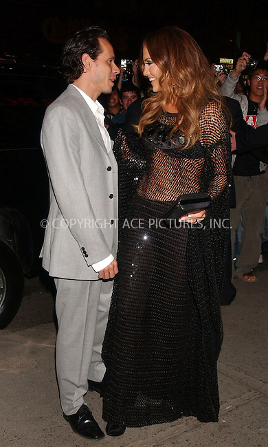 """WWW.ACEPIXS.COM . . . . .....March 27 2007, New York City....Marc Anthony and Jennifer Lopez arriving at the launch party for Jennifer Lopez's her new album """"Cuomo ama una mujer"""" at Spotlight.....Please byline: Kristin Callahan - ACEPIXS.COM..... *** ***..Ace Pictures, Inc:  ..Philip Vaughan (646) 769 0430..e-mail: info@acepixs.com..web: http://www.acepixs.com"""