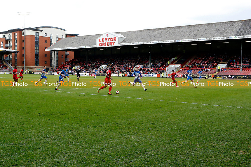 Wide shot of action during Leyton Orient vs Hartlepool United, Sky Bet EFL League 2 Football at the Matchroom Stadium on 17th April 2017