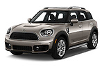 2020 MINI Countryman Cooper-Signature 5 Door Hatchback Angular Front automotive stock photos of front three quarter view