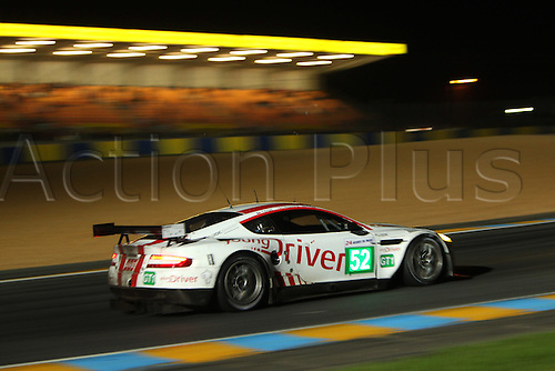 12.06.2010 Le Mans, France - Young Driver AMR Aston Martin DBR9 No.52 LM GT1 (D), Christoffer Nygaard (DK), Tomas Enge CZE, Peter Kox (NL), at night - 24 Hours of Le Mans 2010 at Circuit des 24 Heures du Mans