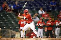 Ohio State Buckeyes third baseman Nick Sergakis (21) at bat during a game against the Pitt Panthers on February 20, 2016 at Holman Stadium at Historic Dodgertown in Vero Beach, Florida.  Ohio State defeated Pitt 11-8 in thirteen innings.  (Mike Janes/Four Seam Images)