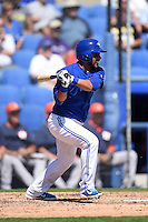 Toronto Blue Jays infielder Maicer Izturis (13) during a Spring Training game against the Houston Astros on March 9, 2015 at Florida Auto Exchange Stadium in Dunedin, Florida.  Houston defeated Toronto 1-0.  (Mike Janes/Four Seam Images)