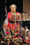 Marian Wright Edelman speaks after winning her award, at the John Jay Justice Award ceremony, April 5 2011.
