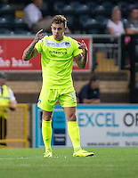 Goal scorer Sammie Szmodics of Colchester United during the Sky Bet League 2 match between Wycombe Wanderers and Colchester United at Adams Park, High Wycombe, England on 27 August 2016. Photo by Liam McAvoy.