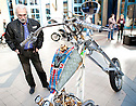 """LONDON INTERNATIONAL CLASSIC AND CUSTOM SHOW  - Alexandra Palace  - 26.2.12.""""Hogfather"""" chopper...Picture by Gavin Rodgers/ Pixel8000. 07917221968"""