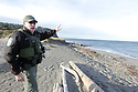 Dec 1, 2015:  Fish and Wild Life officer Bryan Davidson explains the fishing boundaries on the waters of Fort Flagler State Park in Port Townsend, WA.