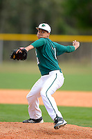 Chicago State University Cougars first baseman Aveeno Nasiloski #21 during a game against the Muskingum Fighting Muskies at South County Regional Park on March 3, 2013 in Punta Gorda, Florida.  (Mike Janes/Four Seam Images)