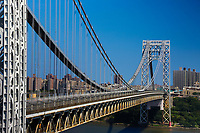 FORT LEE, EUA, 01.08.2019 - TURISMO-EUA - Vista da George Washington Bridge que liga os estados de Nova York e Nova Jersey nos Estados Unidos nesta quinta-feira, 01. (Foto: William Volcov/Brazil Photo Press)
