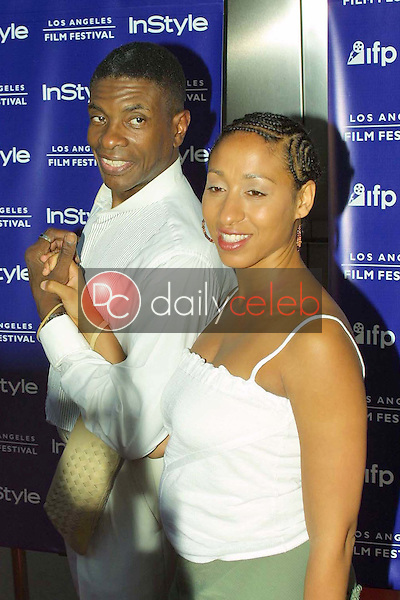 Keith David and wife