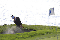 Jake Owen chips from a bunker at the 7th green at Pebble Beach Golf Links during Saturday's Round 3 of the 2017 AT&amp;T Pebble Beach Pro-Am held over 3 courses, Pebble Beach, Spyglass Hill and Monterey Penninsula Country Club, Monterey, California, USA. 11th February 2017.<br /> Picture: Eoin Clarke | Golffile<br /> <br /> <br /> All photos usage must carry mandatory copyright credit (&copy; Golffile | Eoin Clarke)