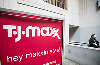 T.J. Maxx store in Lower Manhattan in New York on Monday, May 15, 2017. The TJX Companies is scheduled to release first-quarter earnings before the bell on Tuesday.  (© Richard B. Levine)