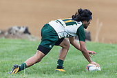 Willie Tuala scores his second try for Manurewa. Counties Manukau Premier Counties Power Club Rugby Round 4 game between Bombay and Manurewa, played at Bombay on Saturday March 31st 2018. <br /> Manurewa won the game 25 - 17 after trailing 15 - 17 at halftime.<br /> Bombay 17 - Ki Anufe, Chay Macwood tries, Tim Cossens, Ki Anufe conversions,  Ki Anufe penalty. <br /> Manurewa Kidd Contracting 25 - Peter White 2 , Willie Tuala 2 tries, James Faiva conversion,  James Faiva penalty.<br /> Photo by Richard Spranger.