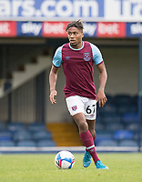 Ossama Ashley, West Ham U21's in action during Southend United vs West Ham United Under-21, EFL Trophy Football at Roots Hall on 8th September 2020