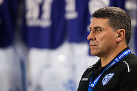 Honduras head coach Luis Fernando Suarez during a CONCACAF Gold Cup group B match at Red Bull Arena in Harrison, NJ, on July 8, 2013.
