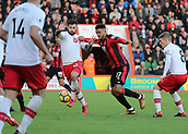 3rd December 2017, Vitality Stadium, Bournemouth, England; EPL Premier League football, Bournemouth versus Southampton; Joshua King of Bournemouth and Charlie Austin of Southampton battle for possession