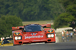 Bill Hawe races his 1985 Porsche 962 at The Brian Redman International Challenge at Road America, 2005.
