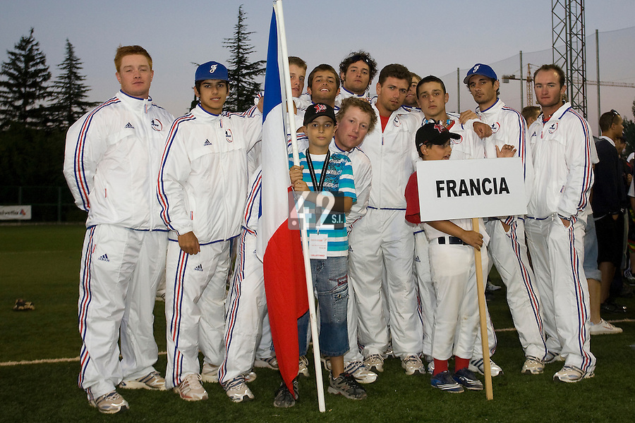 BASEBALL - EUROPEAN UNDER -21 CHAMPIONSHIP - PAMPELUNE (ESP) - 03 TO 07/09/2008 - PHOTO : CHRISTOPHE ELISE .CLOSING CEREMONY -  TEAM FRANCE