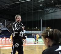 1. Bundesliga Handball Frauen - Punktspiel HC Leipzig (HCL) : DJK / MJC Trier - Arena Leipzig - im Bild: HCL Trainer / Coach Heine Jensen. Foto: Norman Rembarz ..