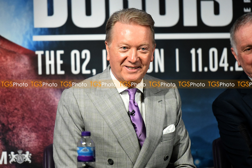 Frank Warren during a Press Conference at the BT Tower on 7th February 2020