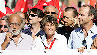 Il segretario generale della Cgil Susanna Camusso alla manifestazione in occasione dello sciopero generale indetto contro la manovra economica del governo, a Roma, 6 settembre 2011..Italian CGIL main union secretary general Susanna Camusso takes part in a demonstration in occasion of the general strike against the government's proposed austerity package, in Rome, 6 september 2011..UPDATE IMAGES PRESS/Riccardo De Luca