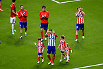 Fernando Torres of Atletico de Madrid (C) walks on the field during his farewell ceremony of La Liga match between Atletico Madrid and Eibar at Wanda Metropolitano Stadium on May 20, 2018 in Madrid, Spain. Photo by Diego Souto / Power Sport Images
