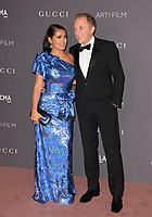 Salma Hayek & Francois-Henri Pinault at the 2017 LACMA Art+Film Gala at the Los Angeles County Museum of Art, Los Angeles, USA 04 Nov. 2017<br /> Picture: Paul Smith/Featureflash/SilverHub 0208 004 5359 sales@silverhubmedia.com