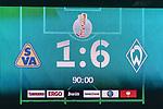 10.08.2019, wohninvest WESERSTADION, Bremen, GER, DFB-Pokal, 1. Runde, SV Atlas Delmenhorst vs SV Werder Bremen<br /> <br /> im Bild<br /> Anzeigetafel / Endstand, <br /> <br /> während DFB-Pokal Spiel zwischen SV Atlas Delmenhorst und SV Werder Bremen im wohninvest WESERSTADION, <br /> <br /> Foto © nordphoto / Ewert