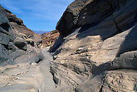 Death Valley National Park, California, CA, USA - Hiking Trail through Mosaic Canyon in Tucki Mountain