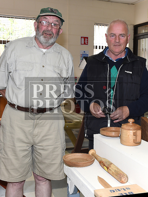 Noel McArdle and Larry Montague pictured at the open day at Mens Sheds on the Donore Road. Photo:Colin Bell/pressphotos.ie