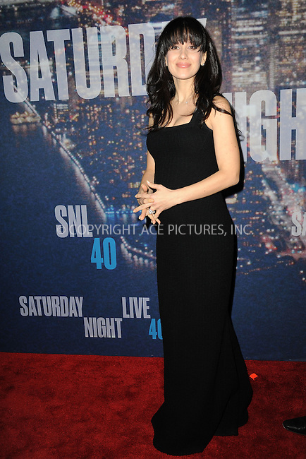 WWW.ACEPIXS.COM<br /> February 15, 2015 New York City<br /> <br /> <br /> Hilaria Thomas walking the red carpet at the SNL 40th Anniversary Special at 30 Rockefeller Plaza on February 15, 2015 in New York City.<br /> <br /> Please byline: Kristin Callahan/AcePictures<br /> <br /> ACEPIXS.COM<br /> <br /> Tel: (646) 769 0430<br /> e-mail: info@acepixs.com<br /> web: http://www.acepixs.com