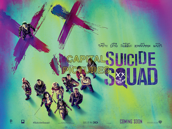 Suicide Squad (2016)<br /> POSTER ART<br /> *Filmstill - Editorial Use Only*<br /> CAP/KFS<br /> Image supplied by Capital Pictures