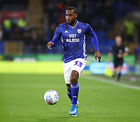 26th November 2019; Cardiff City Stadium, Cardiff, Glamorgan, Wales; English Championship Football, Cardiff City versus Stoke City; Junior Hoilett of Cardiff City - Strictly Editorial Use Only. No use with unauthorized audio, video, data, fixture lists, club/league logos or 'live' services. Online in-match use limited to 120 images, no video emulation. No use in betting, games or single club/league/player publications