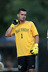 10 September 2016: Wake Forest's Andreu Cases Mundet (ESP). The Wake Forest University Demon Deacons hosted the University of Virginia Cavaliers in a 2016 NCAA Division I Men's Soccer match. Wake Forest won the game 1-0 in sudden death overtime.