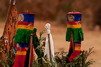 Buddhist  ritual objects used during Losar,  Sikkim India