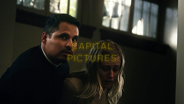 The Vatican Tapes (2015) <br /> Michael Pena, Olivia Taylor Dudley<br /> *Filmstill - Editorial Use Only*<br /> CAP/KFS<br /> Image supplied by Capital Pictures