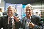 UTRECHT - Congres NVG, Nederlandse Vereniging van Golfexploitanten. Marcel Wellink (r) met de Engelsman ....COPYRIGHT KOEN SUYK