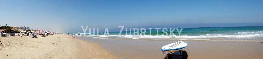 Rishon Lezion Israel, panorama beach view