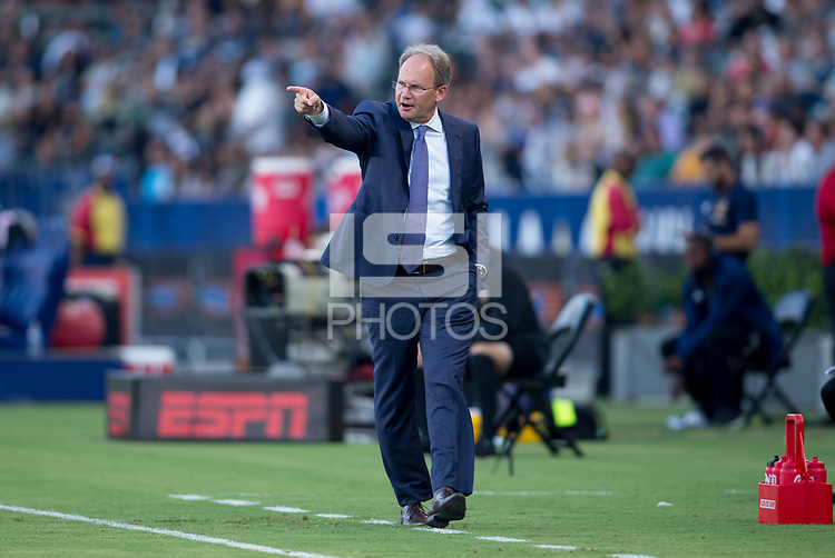 Carson, CA - Saturday July 29, 2017: Brian Schmetzer during a Major League Soccer (MLS) game between the Los Angeles Galaxy and the Seattle Sounders FC at StubHub Center.