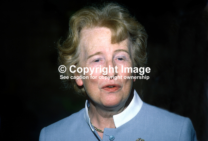 Mrs Moyra Mitchell, director, Fold Housing Association, N Ireland, 19850603MM1..Copyright Image from Victor Patterson, 54 Dorchester Park, Belfast, UK, BT9 6RJ..Tel: +44 28 9066 1296.Mob: +44 7802 353836.Voicemail +44 20 8816 7153.Skype: victorpattersonbelfast.Email: victorpatterson@me.com.Email: victorpatterson@ireland.com (back-up)..IMPORTANT: If you wish to use this image or any other of my images please go to www.victorpatterson.com and click on the Terms & Conditions. Then contact me by email or phone with the reference number(s) of the image(s) concerned.