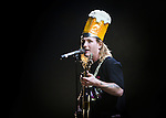 (One of a Kind!)<br /> Corey Taylor of Stone Sour wearing an audience member's &quot;Beer Hat&quot;