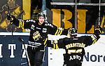 Stockholm 2014-12-01 Ishockey Hockeyallsvenskan AIK - S&ouml;dert&auml;lje SK :  <br /> AIK:s Joakim Hagelin firar sitt 3-1 m&aring;l med Dennis Nordstr&ouml;m under matchen mellan AIK och S&ouml;dert&auml;lje SK <br /> (Foto: Kenta J&ouml;nsson) Nyckelord:  AIK Gnaget Hockeyallsvenskan Allsvenskan Hovet Johanneshov Isstadion S&ouml;dert&auml;lje SSK jubel gl&auml;dje lycka glad happy