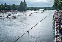 Henley Royal Regatta, Henley on Thames, Oxfordshire, 28 June - 2 July 2017.  Thursday  15:43:22   29/06/2017  [Mandatory Credit/Intersport Images]<br /> <br /> Rowing, Henley Reach, Henley Royal Regatta.<br /> <br /> The Visitors' Challenge Cup<br />  Aviron Grenoblois, France v  Cercle Nautique de France, France and Soci&eacute;t&eacute; Nautique de Monaco, Monaco