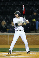 Johnny Aiello (2) of the Wake Forest Demon Deacons at bat against the Georgetown Hoyas at David F. Couch Ballpark on February 19, 2016 in Winston-Salem, North Carolina.  The Demon Deacons defeated the Hoyas 3-1.  (Brian Westerholt/Four Seam Images)