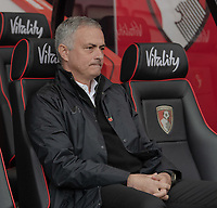 Manchester United manager Jos&eacute; Mourinho <br /> <br /> Photographer David Horton/CameraSport<br /> <br /> The Premier League - Bournemouth v Manchester United - Saturday 3rd November 2018 - Vitality Stadium - Bournemouth<br /> <br /> World Copyright &copy; 2018 CameraSport. All rights reserved. 43 Linden Ave. Countesthorpe. Leicester. England. LE8 5PG - Tel: +44 (0) 116 277 4147 - admin@camerasport.com - www.camerasport.com