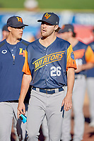 James Naile (26) of the Las Vegas Aviators before the game against the Salt Lake Bees at Smith's Ballpark on July 20, 2019 in Salt Lake City, Utah. The Aviators defeated the Bees 8-5. (Stephen Smith/Four Seam Images)