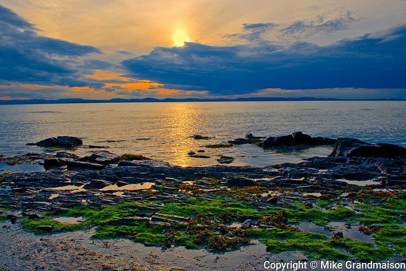 SUnset on the Gulf of St. Lawrence, RIviere du Loup, Quebec, Canada